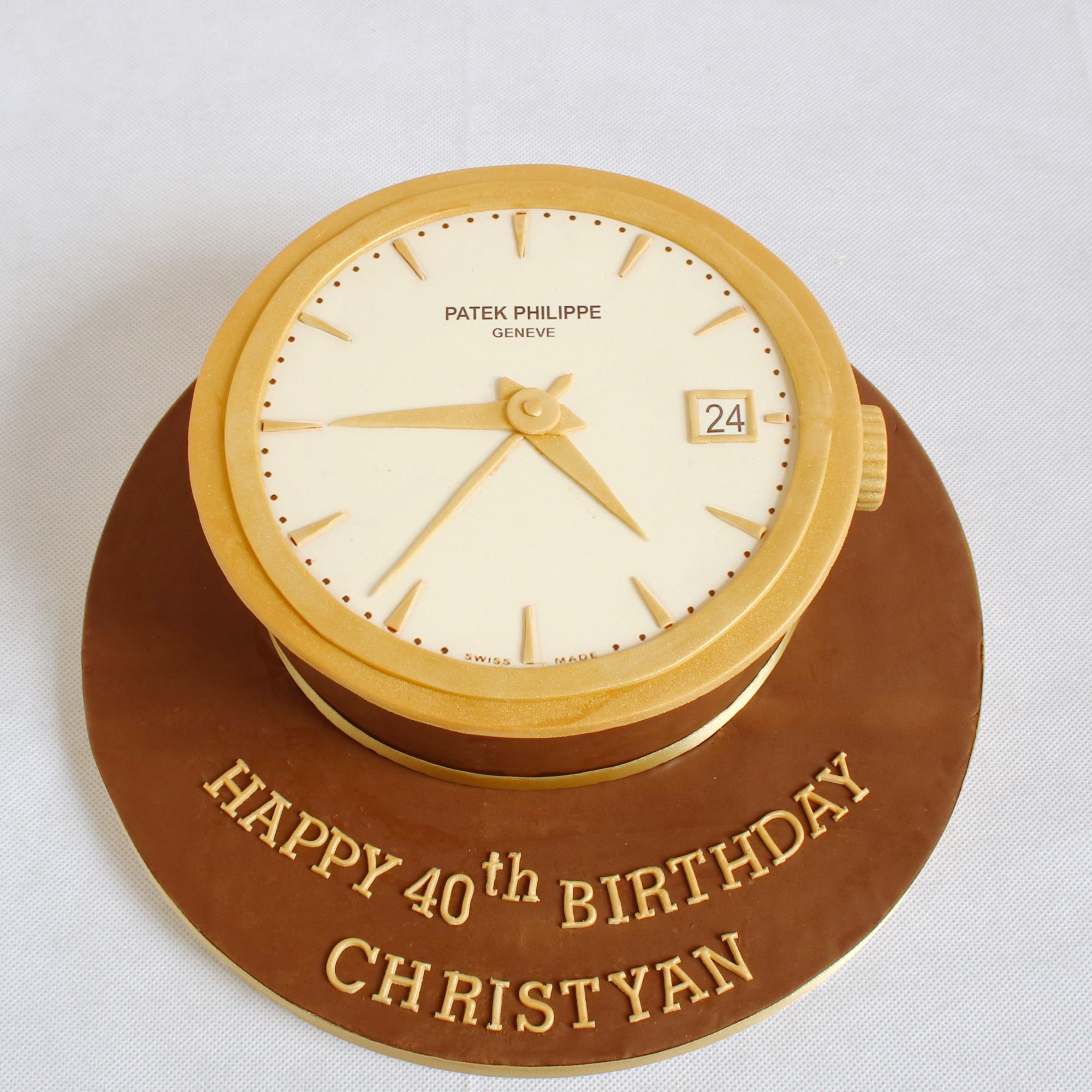 philippe patek gold watch birthday cake