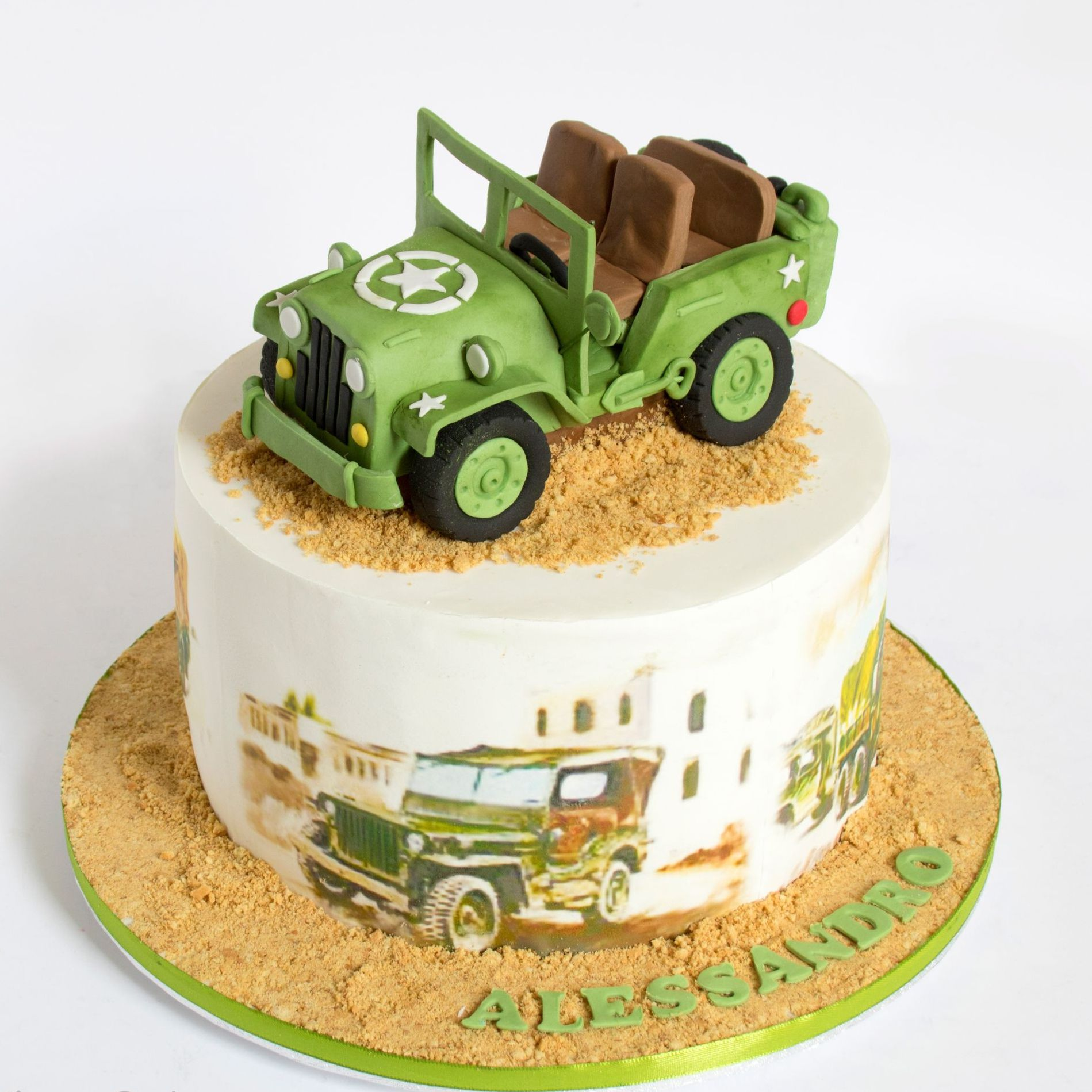 MILITARY JEEP CAR THEMED BIRTHDAY CAKE