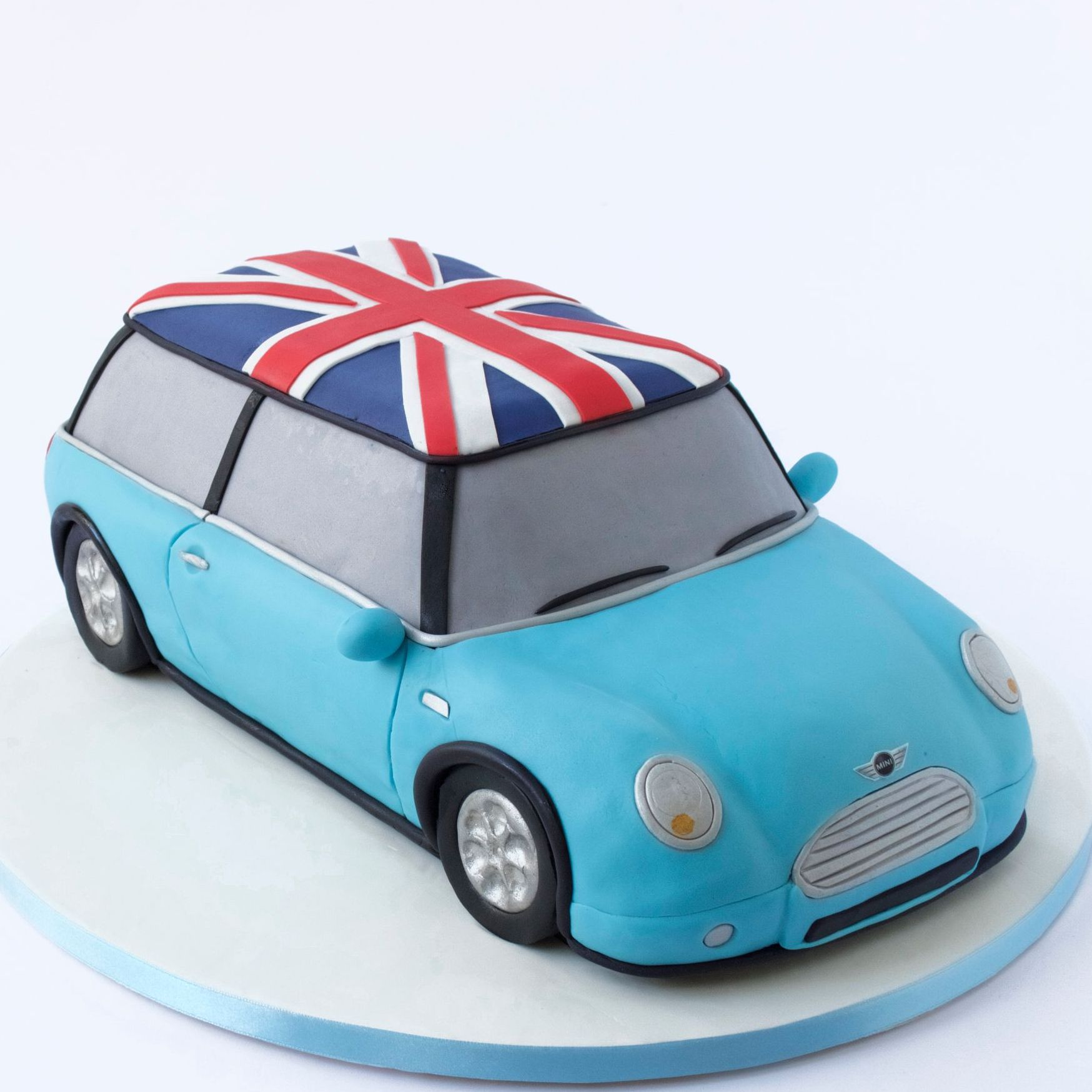 3D CAR CAKE MINI COOPER ROOF UK FLAG DESIGN jack Union Classic
