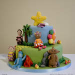 Cartoon Birthday Cake In the Night Garden Cake