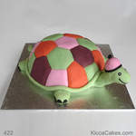 Comforter Birthday Cake Turtle Toy Cake
