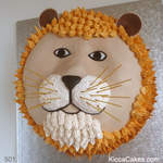 Animal Birthday Cake Lion Cake