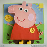 Cartoon Birthday Cake Peppa Pig Cake