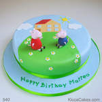 Kids birthday cake Peppa pig and brother george cake