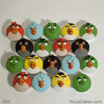 Cartoon Birthday Cupcakes Angry Birds Cupcakes