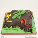Animal Birthday Cake Crocodile Cake