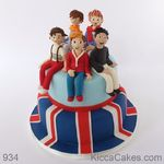 954 one direction boy band cake