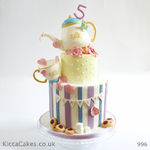 996 summer tea party birthday cake