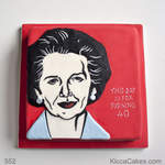 Special Novelty Cake Margaret Thatcher Portrait