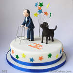 Fun Novelty Cake Man and Dog
