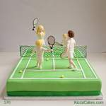 Fun Novelty Cake Tennis Party