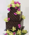 Chocolate Wedding Cake Square Chocolate