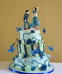 Unusual Wedding Cake Wonky Dancing Couple Cake