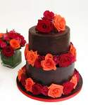 Original Wedding Cake Red Roses Chocolate Cake