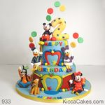 933 - mickey mouse party cake