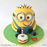 973 despicable me minion birthday cake