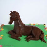 1163 - horse in field birthday cake