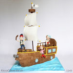 1149 - jake and the never land pirates ship cake1