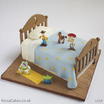 1154 - toy story bed cake