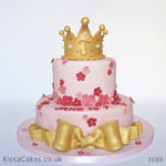 1089 princess crown cake