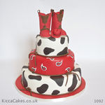1092 cowgirl boots cake