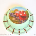 1103 chuggington train printed cake