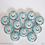 1125 - frozen olaf cupcakes