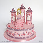 1126 - princess castle cake