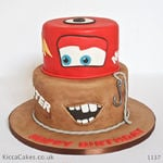 1137 - cars mcqueen and mater cake