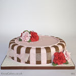 981 pink and red roses birthday cake