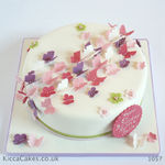 1057 pink purple butterfly birthday cake