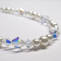 Swarovski AB Crystal and Pearl Bridal Jewellery