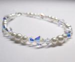 Swarovski AB Crystal & Pearl Bracelet