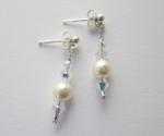 Swarovski AB Crystal & Pearl Drop Earrings