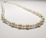 Swarovski AB Crystal & Pearl Necklace