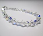 Swarovski Bracelet with Alternating AB crystals