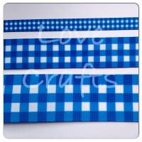 Royal Checked Grosgrain Ribbon