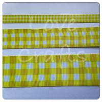 Daffodil Checked Grosgrain Ribbon