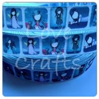 "1 metre - 7/8"" Gorjuss Girls Grosgrain Ribbon"