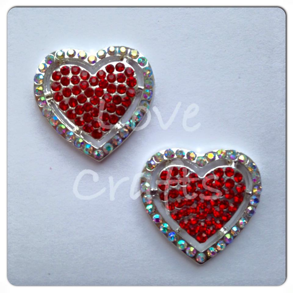 Bling Red Heart