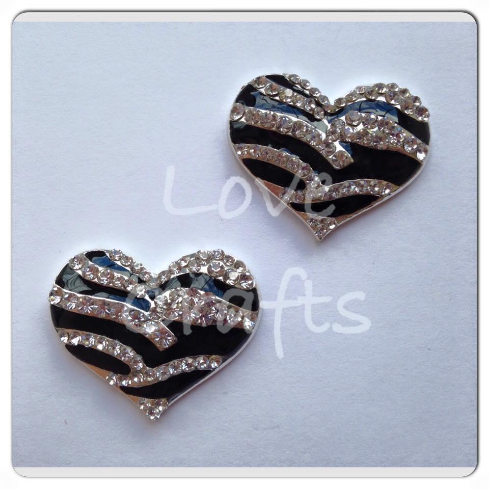 Bling Zebra Heart