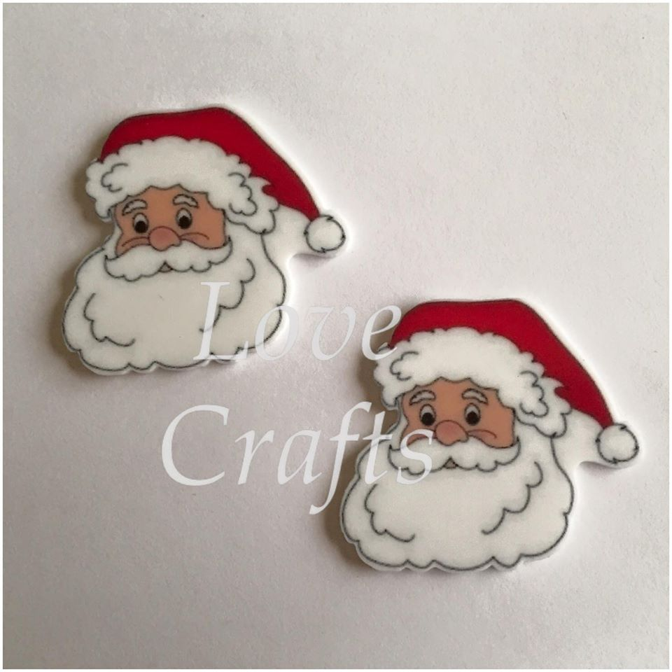 Santa Face Laser Cut Resin