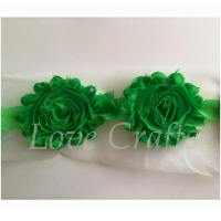 "2.5"" Fern Green Shabby Flowers"