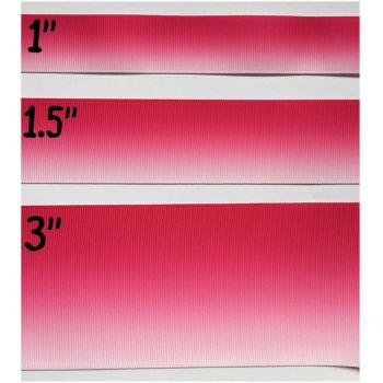 Hot Pink Ombre Grosgrain Ribbon