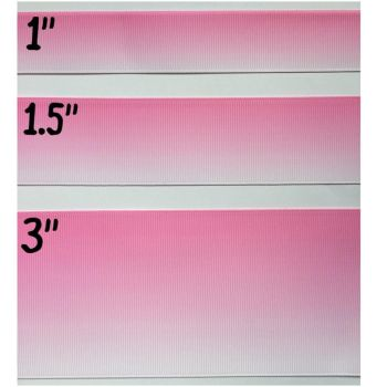 Light Pink Ombre Grosgrain Ribbon