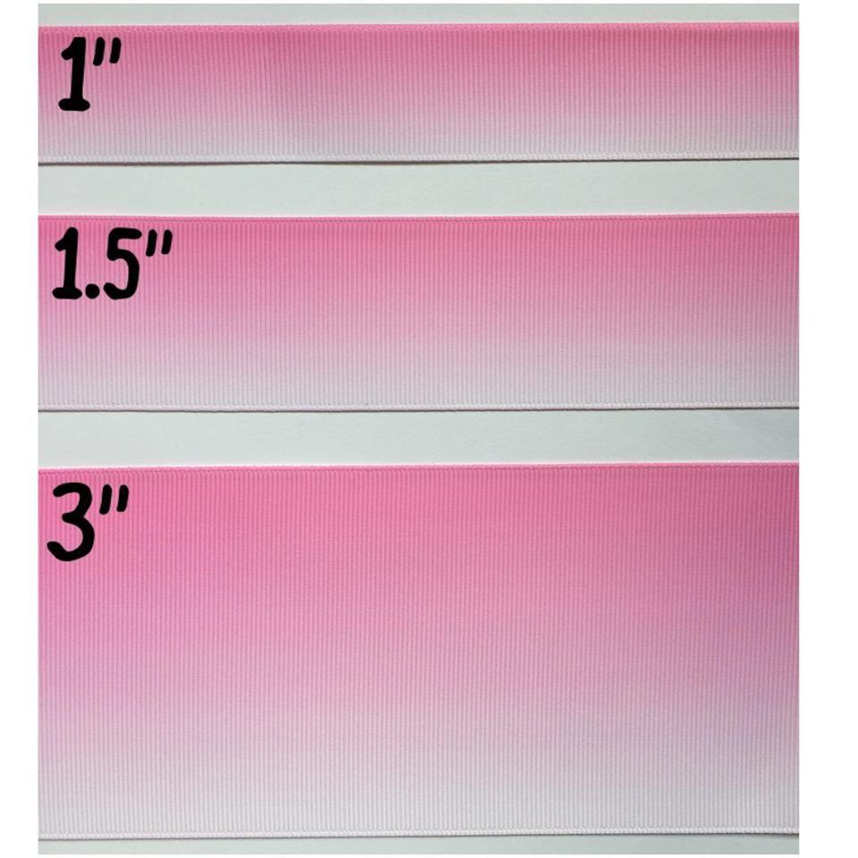 Light Pink Ombre Grosgrain Ribbon
