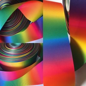 Double Sided Rainbow Ombre Grosgrain Ribbon