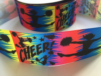 "2"" Cheer Grosgrain Ribbon"