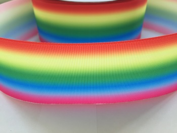 "2"" Horizontal Rainbow Ombre Grosgrain Ribbon"