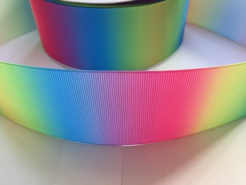 "2"" Vertical Rainbow Ombre Grosgrain Ribbon"